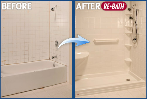 Before And After Photo Nebraska Rebath Bathroom Remodeling