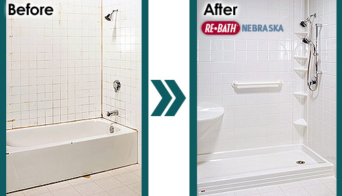 Bathtub To Shower Conversions Nebraska Remodeling Products - Bathroom remodel walk in shower cost